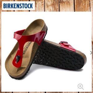 🔥NWT BIRKENSTOCK Gizeh Birko-Flor Patent